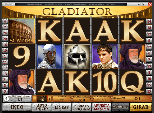 Bono gladiator tragaperras online