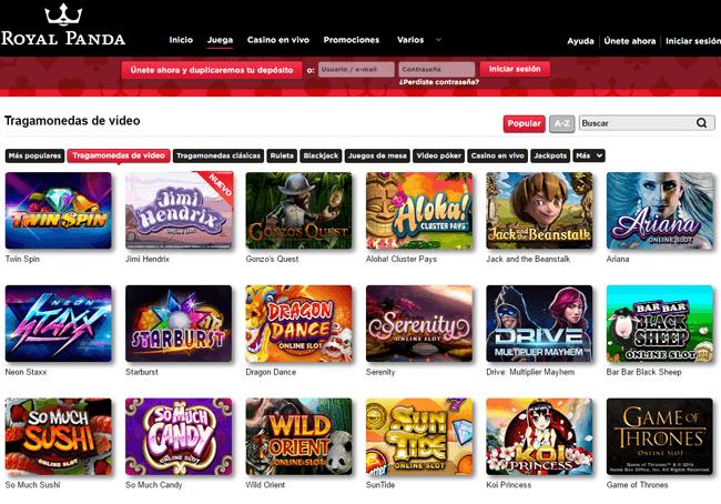 bono de bienvenida royal panda casino