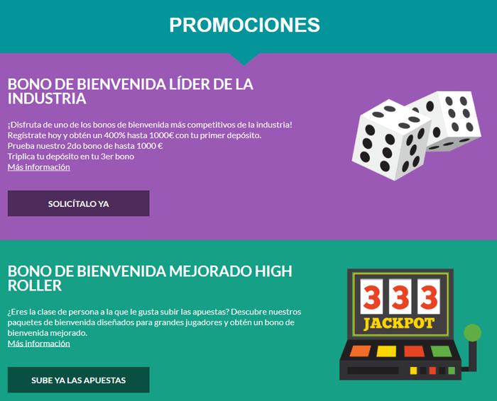 promociones y bonos de casino superlines