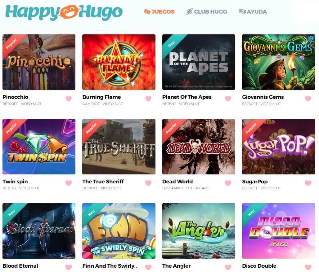 happy hugo juegos tragaperras