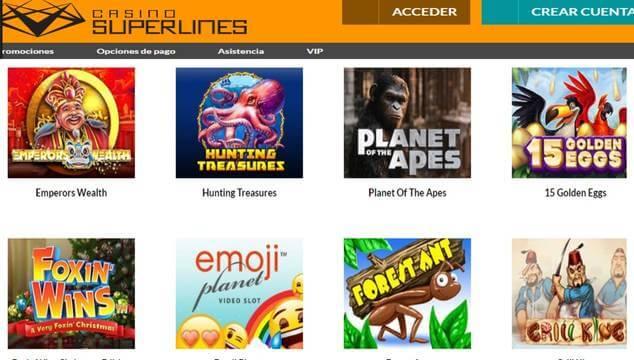 Promoción Bonos sin depósito Casino Superlines