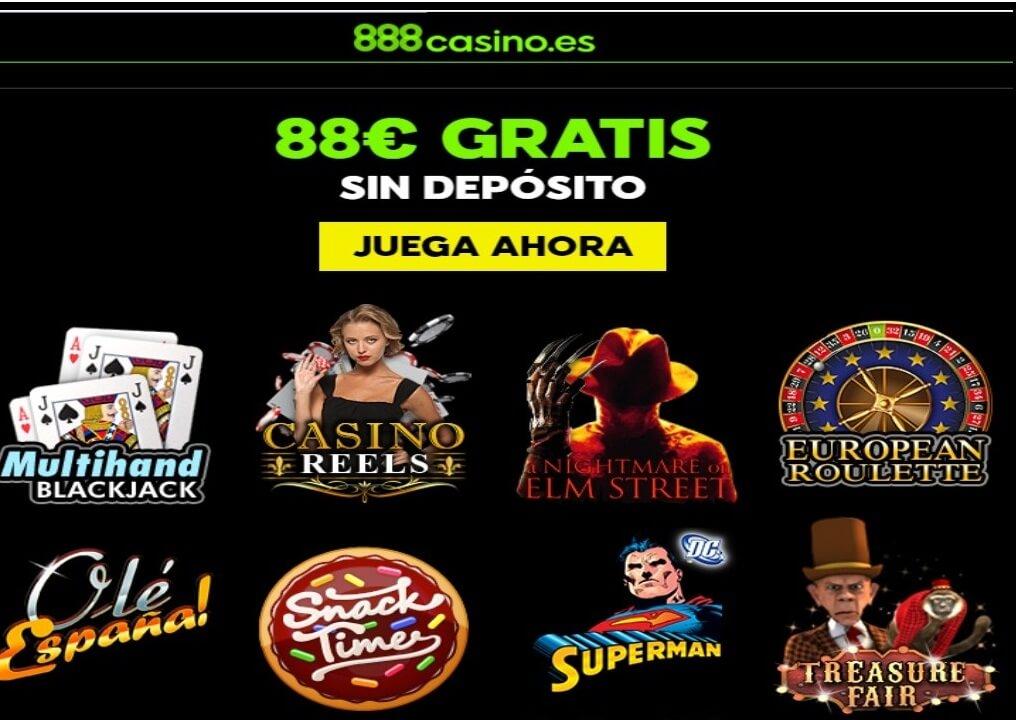 Casino 888 bono sin depósito por 88 euros por registro
