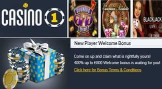 Casino 1 entrega bonos de bienvenida