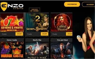 100 euros promocionales en giros gratis Enzzo Casino