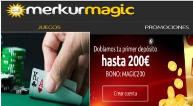 Merkurmagic dobla el depósito hasta por 200 euros
