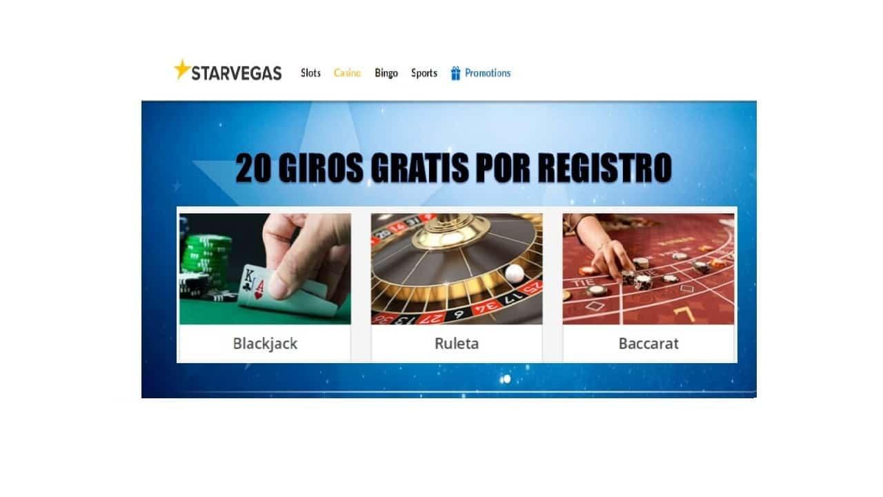 Casino Starvegas entrega hasta 20 giros gratis