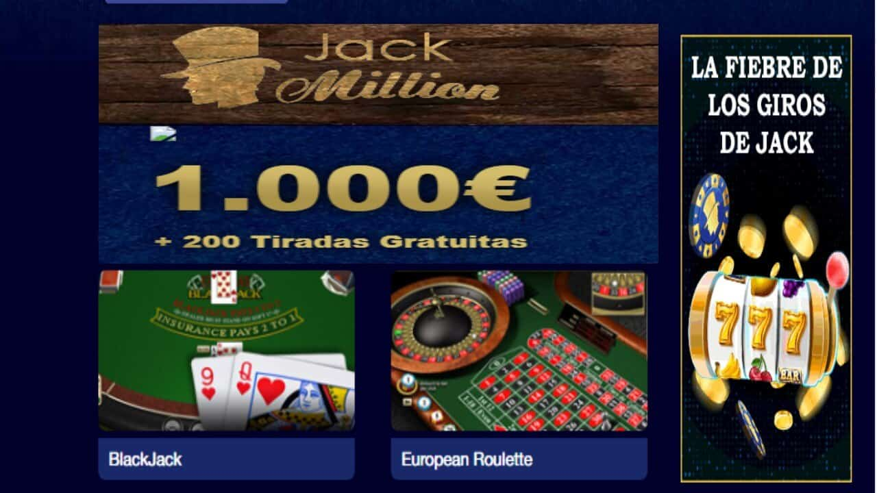 Casino Jack Million lunes de giros gratis