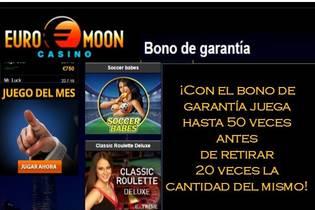 Bono de garantía Euromoon hasta 20 veces el monto del bono