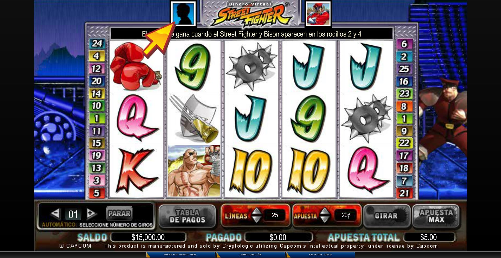 Slot Street Fighter 2
