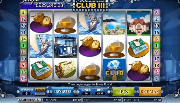 Tragaperras de Millionaires Club III