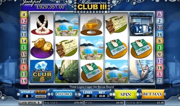 Slot Millionaires Club III