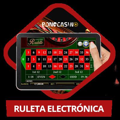 Jugar a la ruleta electrónica en casinos online